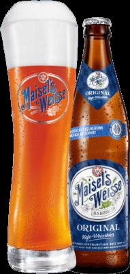 Maisel's Weisse Original Glas und Flasche