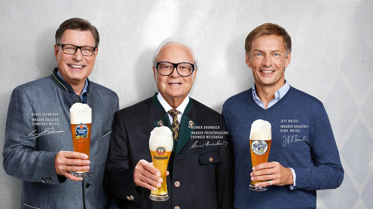 Georg Schneider, Wernder Brombach und Jeff Maisel