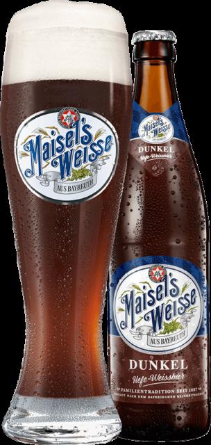 Maisel's Weisse Dunkel Glas und Flasche