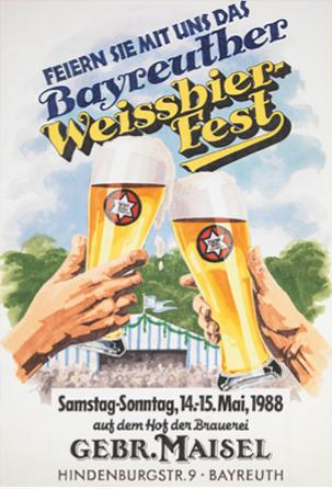 Plakat für das Bayreuther Weissbierfest