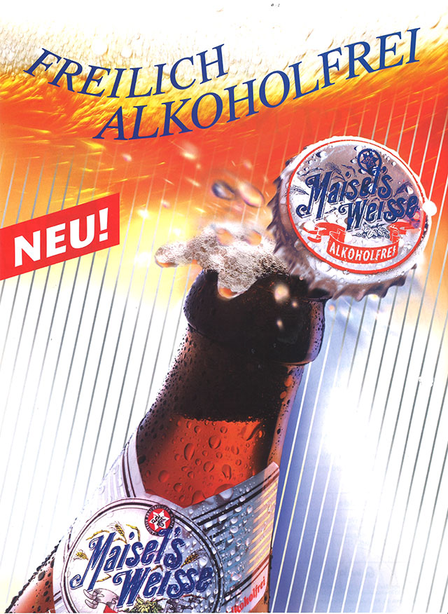 Werbeplakat von Maisel's Weisse Alkoholfrei