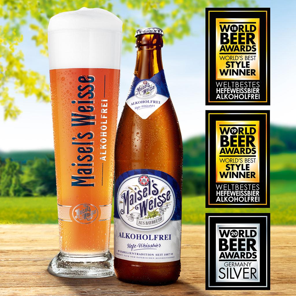 Erneute Weltklasse-Platzierung für Maisel's Weisse Alkoholfrei in Folge